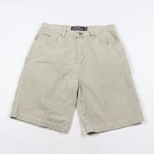 Vintage Quiksilver Spell Out Corduroy Shorts Gray